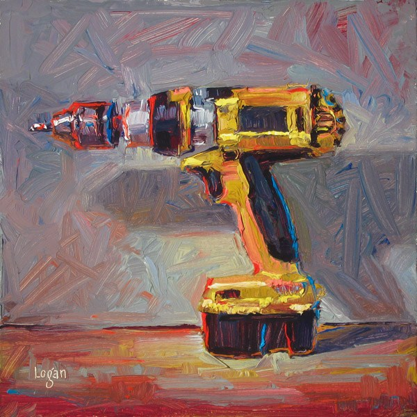 """Ode to a DeWALT Drill"" original fine art by Raymond Logan"