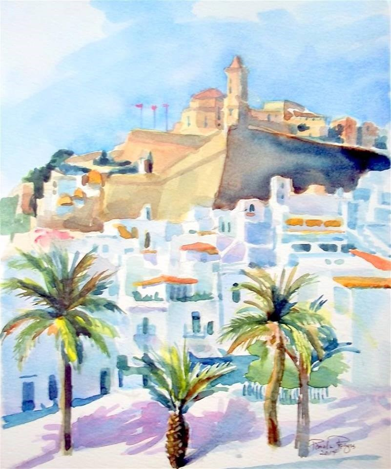 """""""Ibiza in the Afternoon"""" original fine art by Pamela Jane Rogers"""