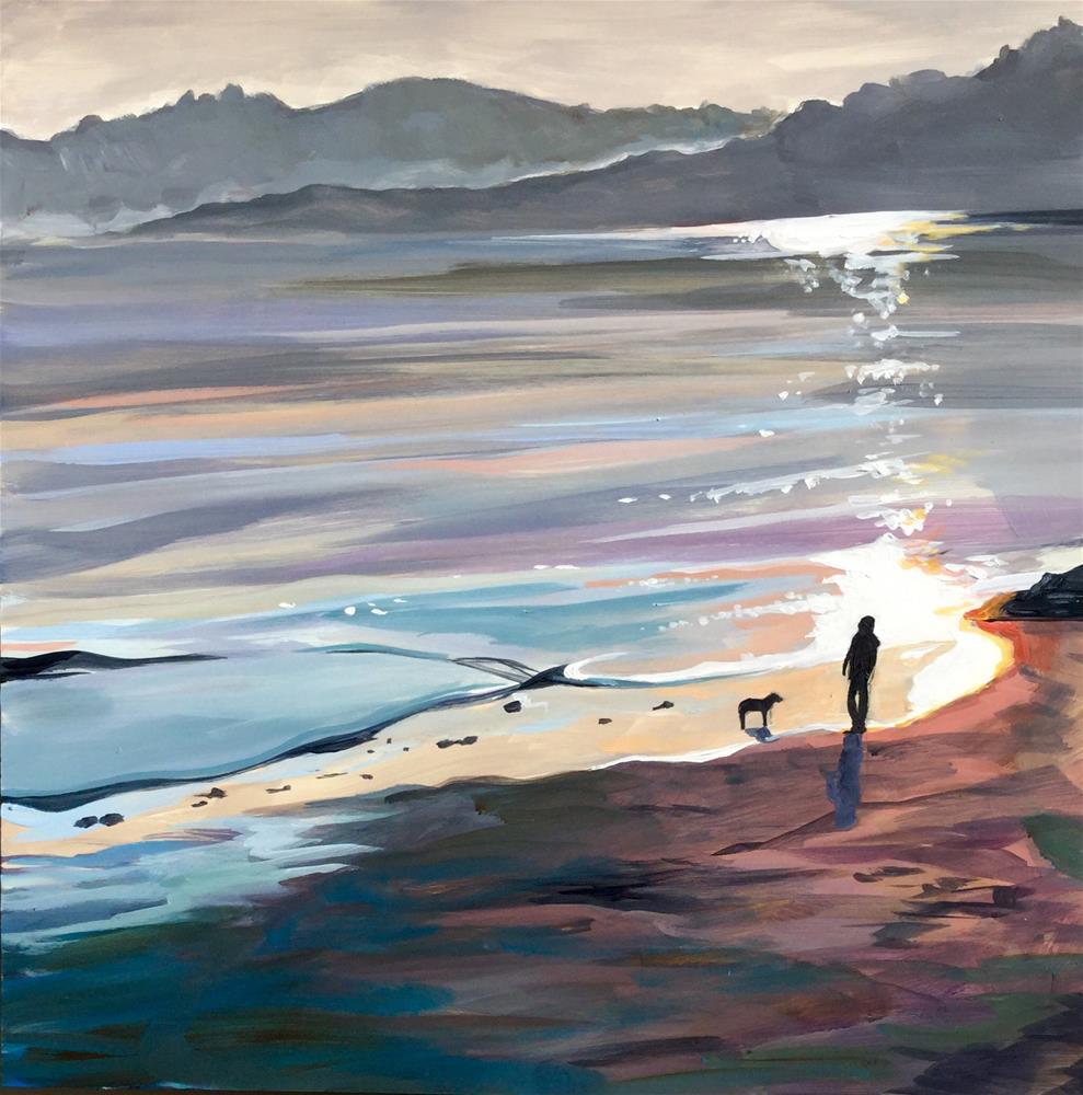 """Somewhere on a Beach"" original fine art by Lauren Kuhn"
