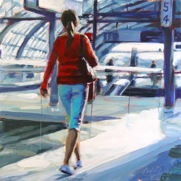 """""""070 Berlin Hauptbahnhof"""" original fine art by Anja Berliner"""