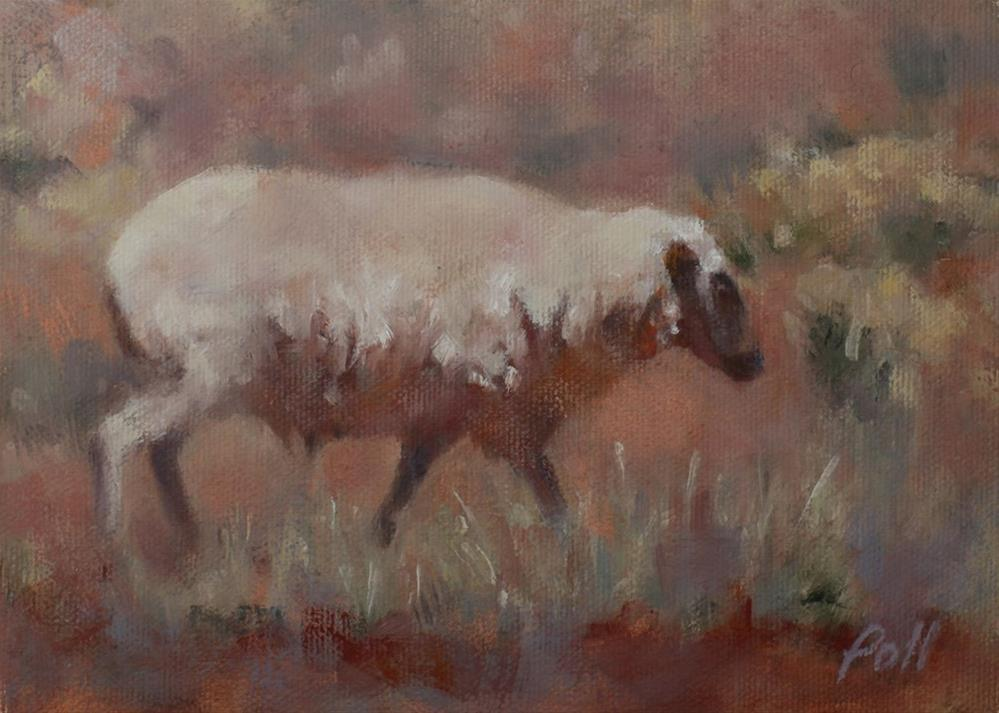 """Southwest Sheep"" original fine art by Pamela Poll"