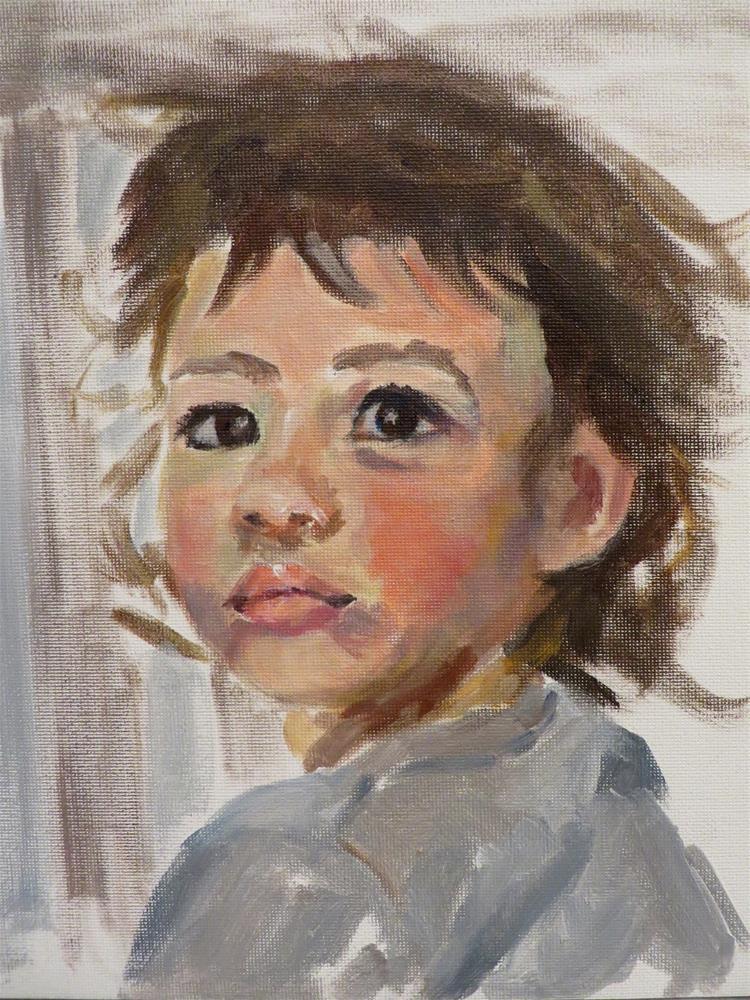 """781 Beautiful Baby Paul"" original fine art by Diane Campion"