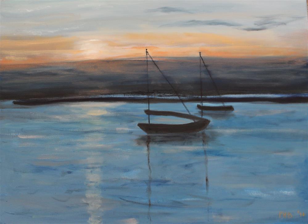 """Nightfall"" original fine art by Patty Barnes"