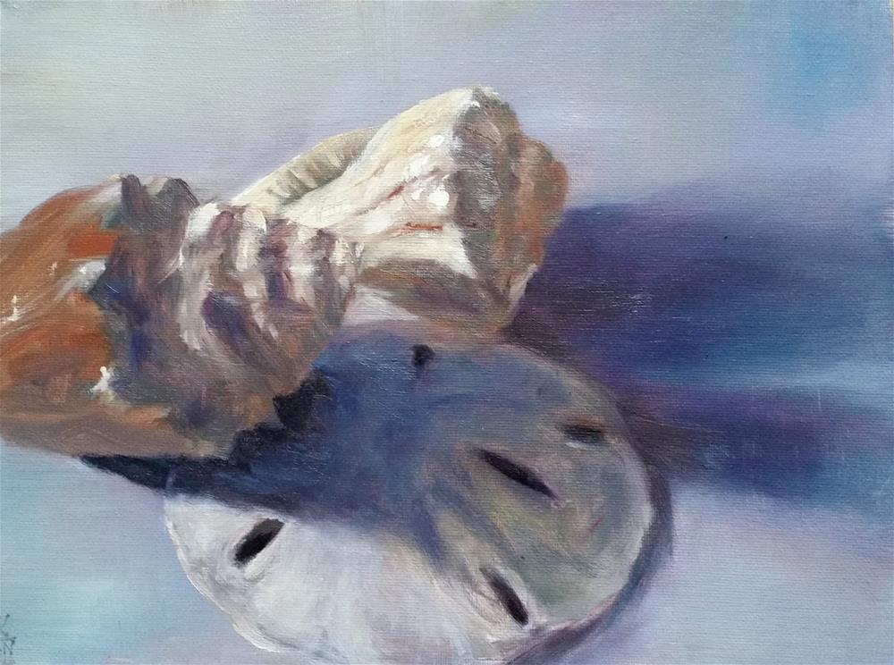 """Robbie's Seashells"" original fine art by Kim Vanlandingham"