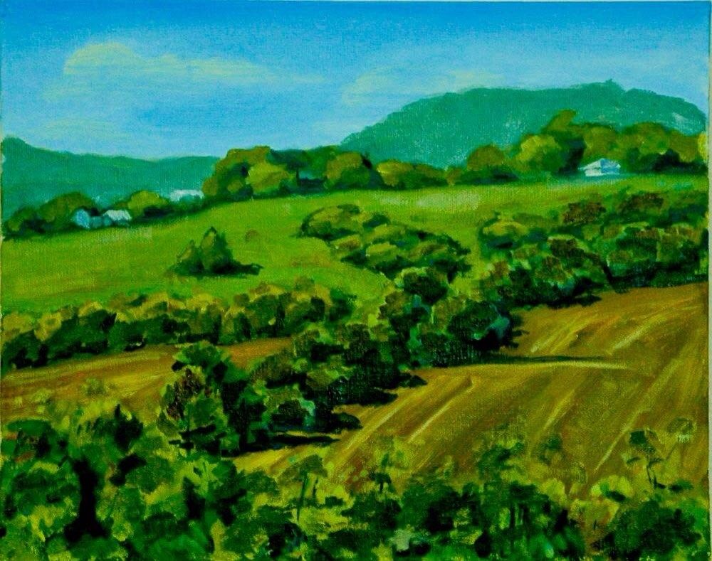"""Scenery Hill from Bethlahem"" original fine art by Ted Michaelis"