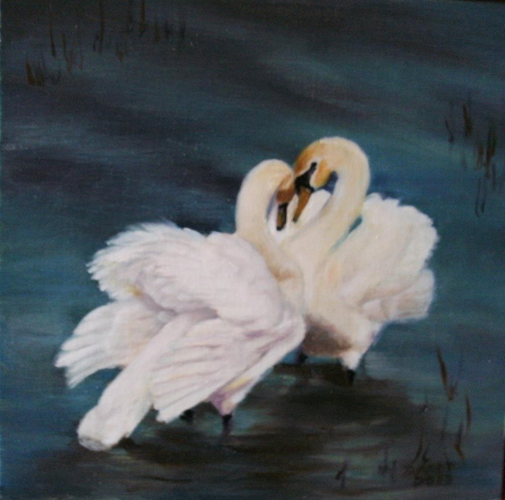 """""""Shallow Debate"""" original fine art by Lynn Darby"""