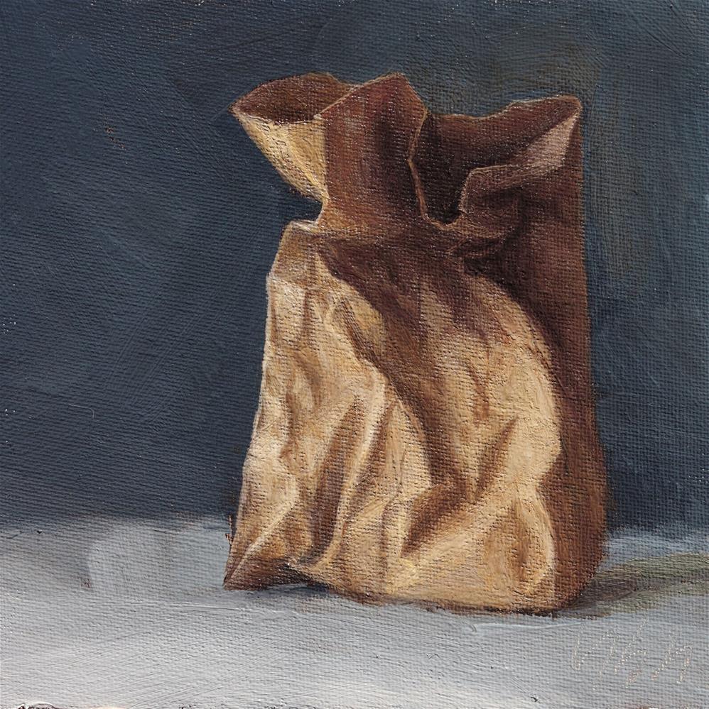 """Paper Sack"" original fine art by Yuehua He"