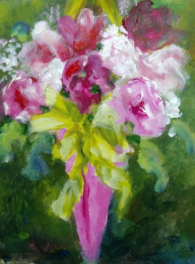 """May Day Basket"" original fine art by Susan Elizabeth Jones"