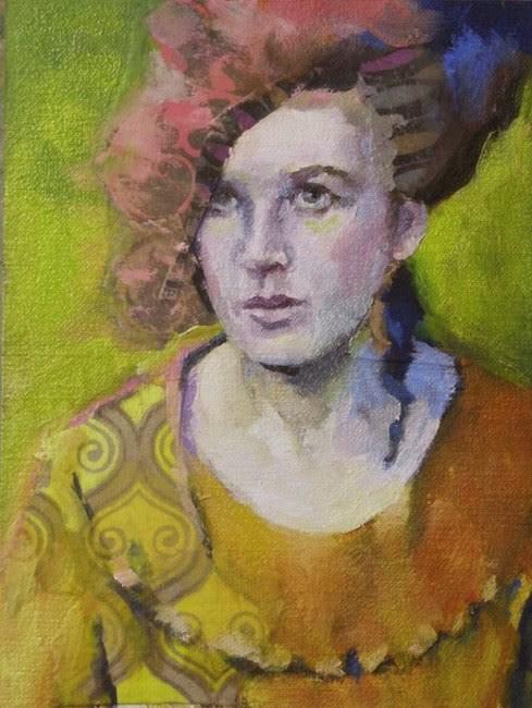 """Yellow Side"" original fine art by Katie Wilson"
