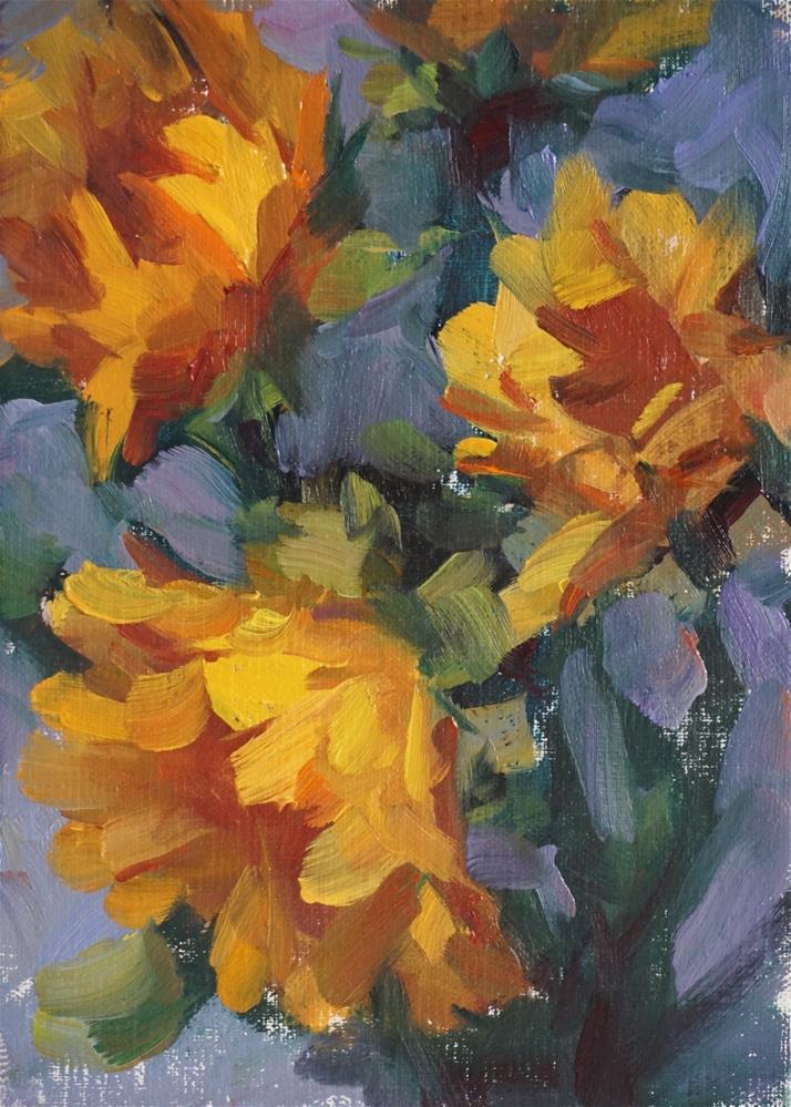 """Sunflowers"" original fine art by Carol Myer"