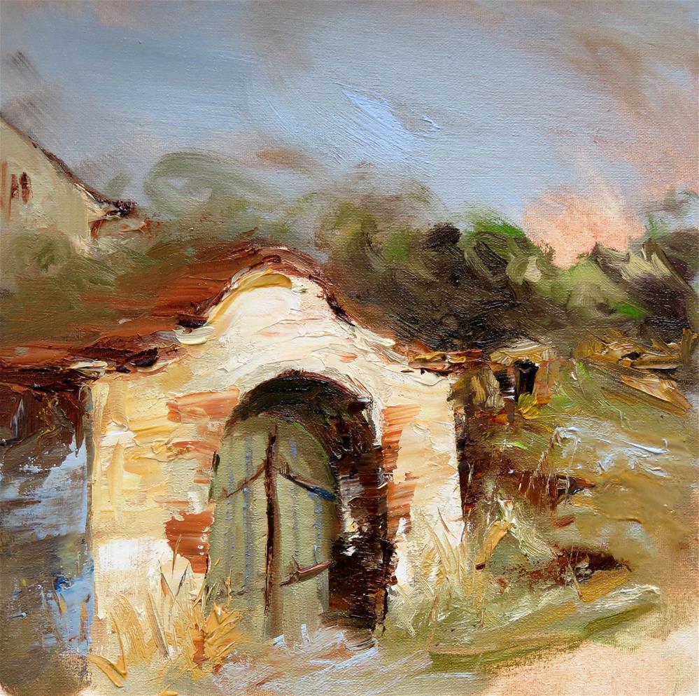 """Wine Cellar Zellerndorf"" original fine art by Christa Friedl"
