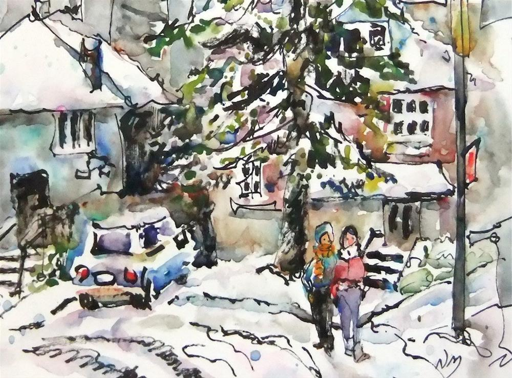 """morning snowfall"" original fine art by Nora MacPhail"