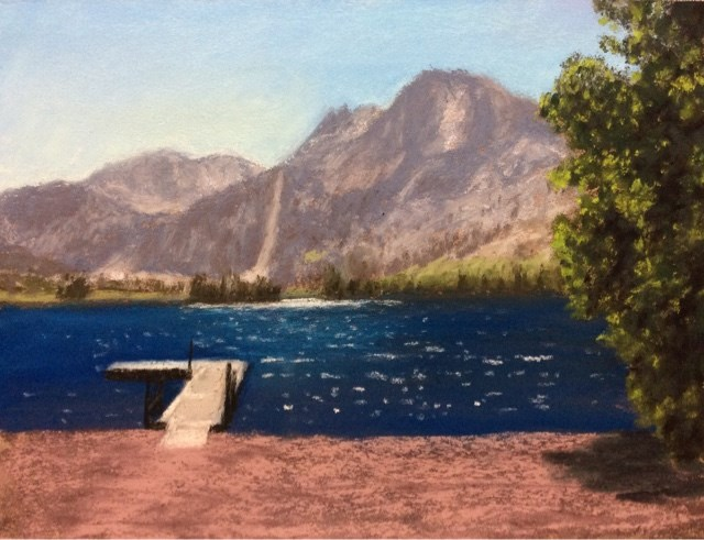 """CARSON PEAK ABOVE SILVER LAKE"" original fine art by Marti Walker"