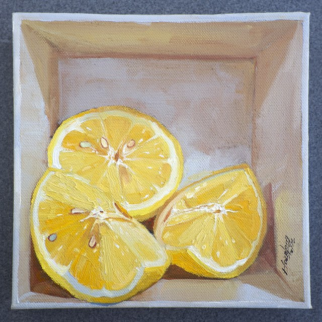 """Lemon in a box"" original fine art by Haze Long"