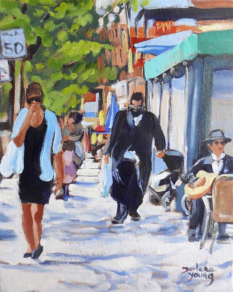 """978 Montreal Scene, du Parc, 8x10 oil on board"" original fine art by Darlene Young"