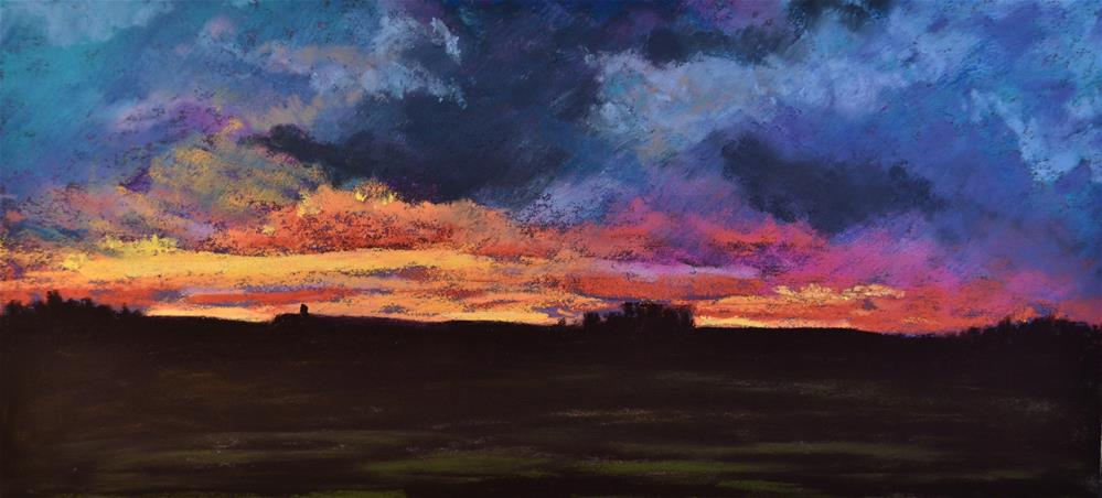 """Mohonk Sunset"" original fine art by Laurie Sammons"