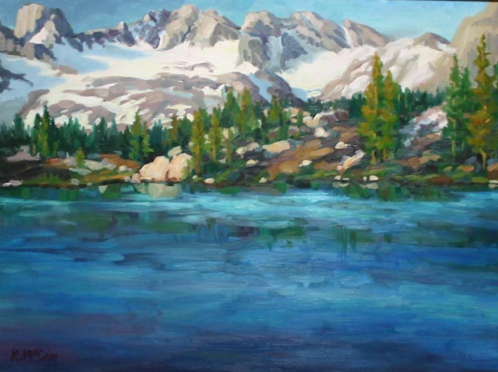 """High Mountain Lake"" original fine art by K.R. McCain"