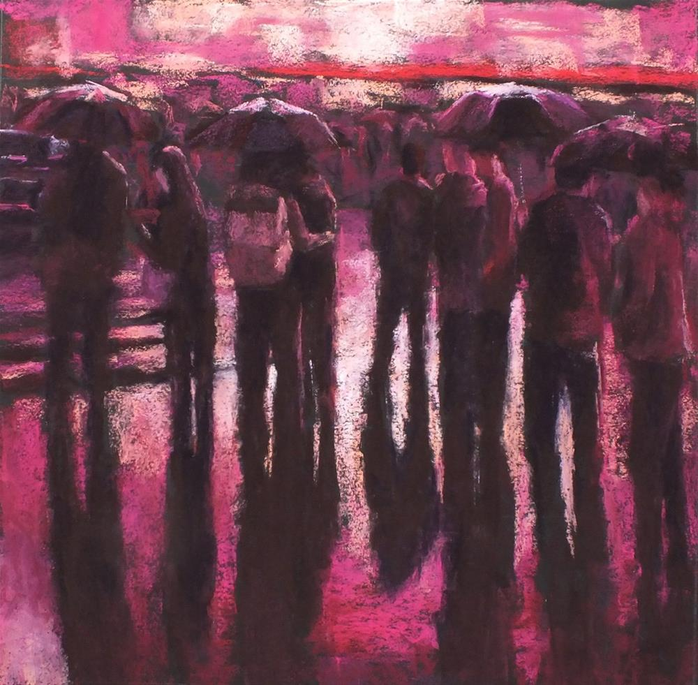 """In Fuchsia Rain"" original fine art by Linee Baird"