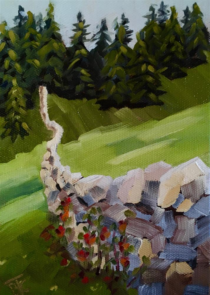 """Mending Fences"" original fine art by Bobbie Cook"