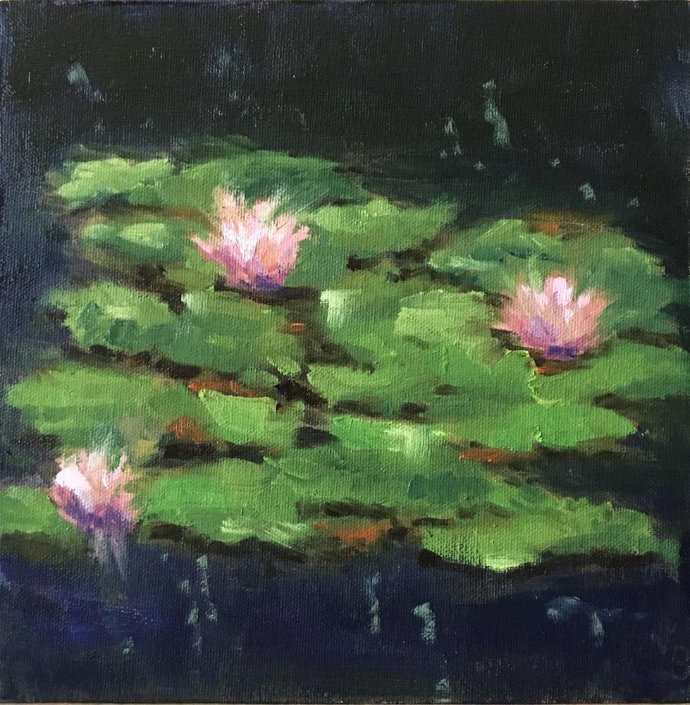 """Lily Pond"" original fine art by Victoria  Biedron"