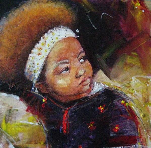 """AFRO 9"" original fine art by Adebanji Alade"
