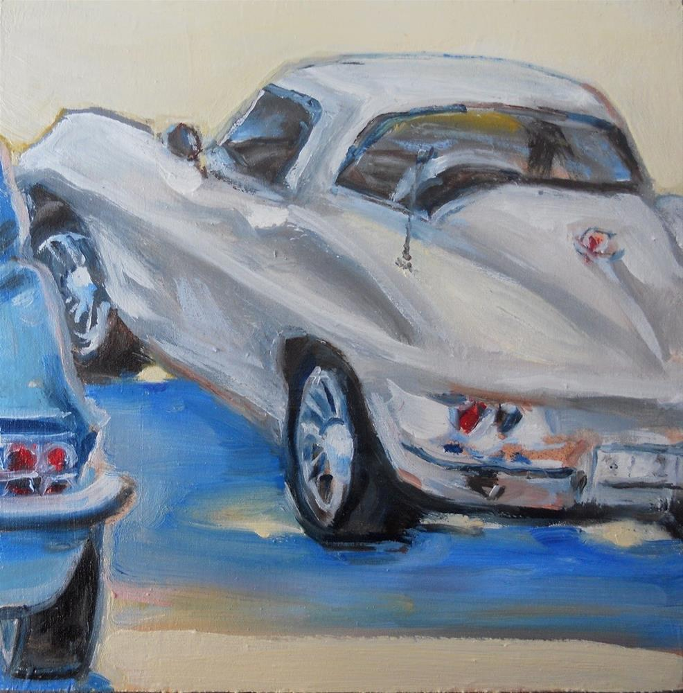 """'vettes"" original fine art by Susan Baker"