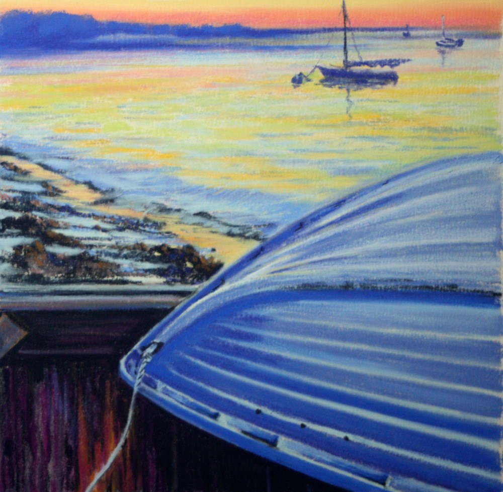 """Nantucket Twilight"" original fine art by Jill Bates"
