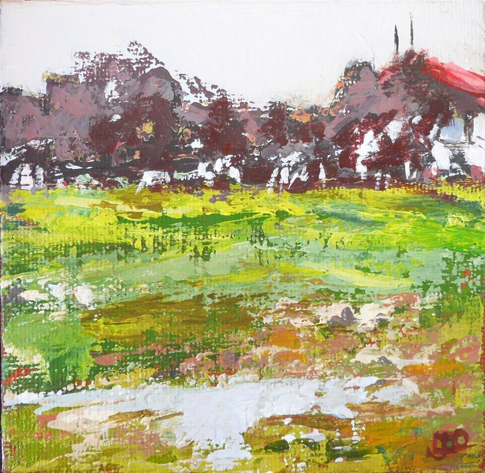 """""""The Home Paddock"""" original fine art by Leanne Owen"""