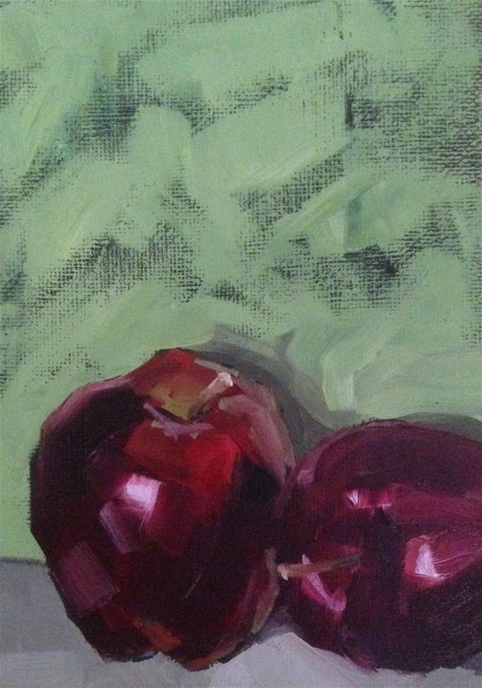 """Red Delicious"" original fine art by Philla Barkhorn"