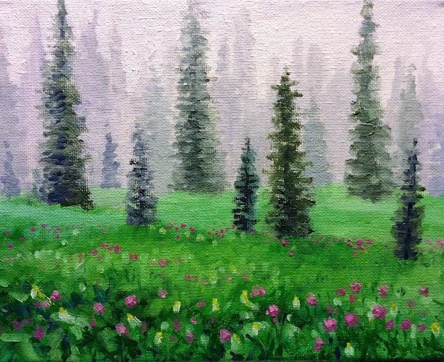 """""""Soft rain"""" original fine art by Hilary J. England"""