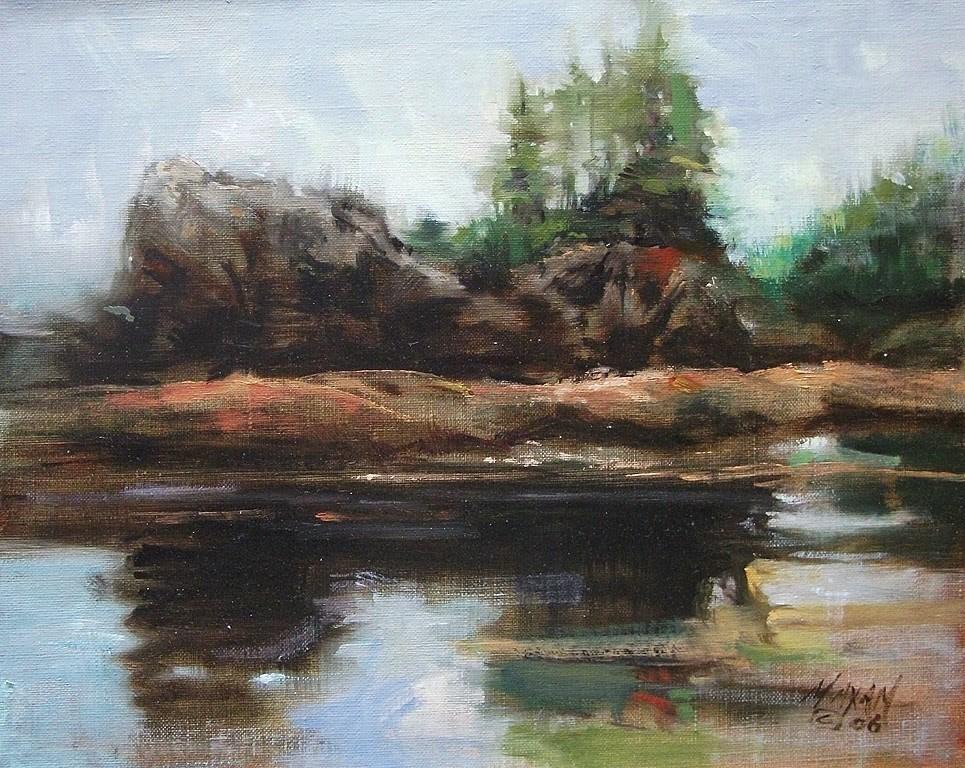 """McKinn Island"" original fine art by Mary Maxam"