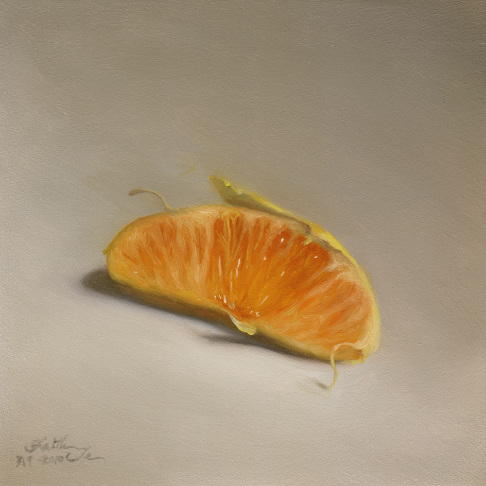 """Orange Segment"" original fine art by Faith Te"