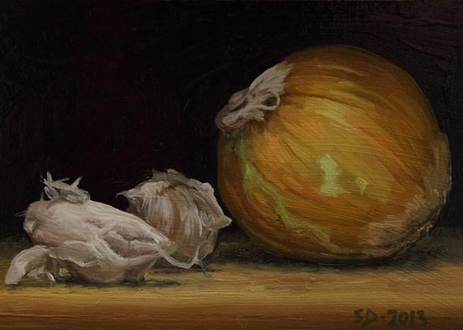 """""""Onion Garlic 130205"""" original fine art by Sue Deutscher"""