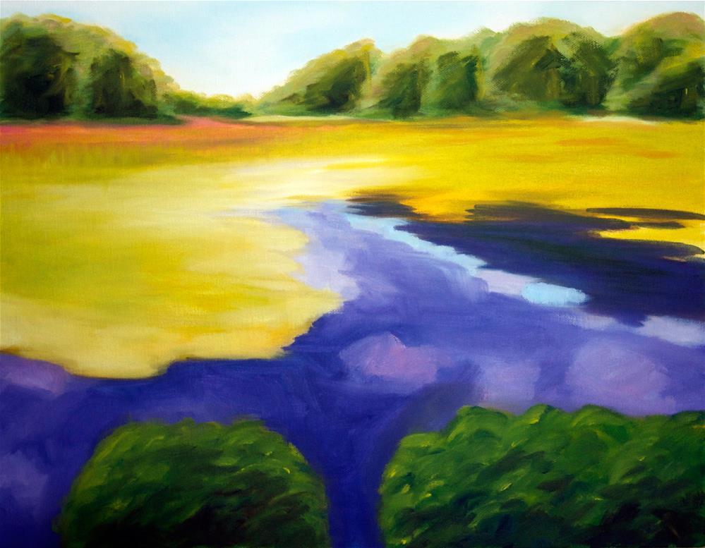 """New England Marsh"" original fine art by Susan Bertocci"