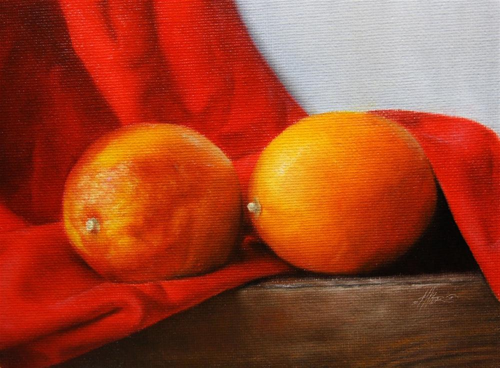 """Blood Oranges II"" original fine art by Jonathan Aller"