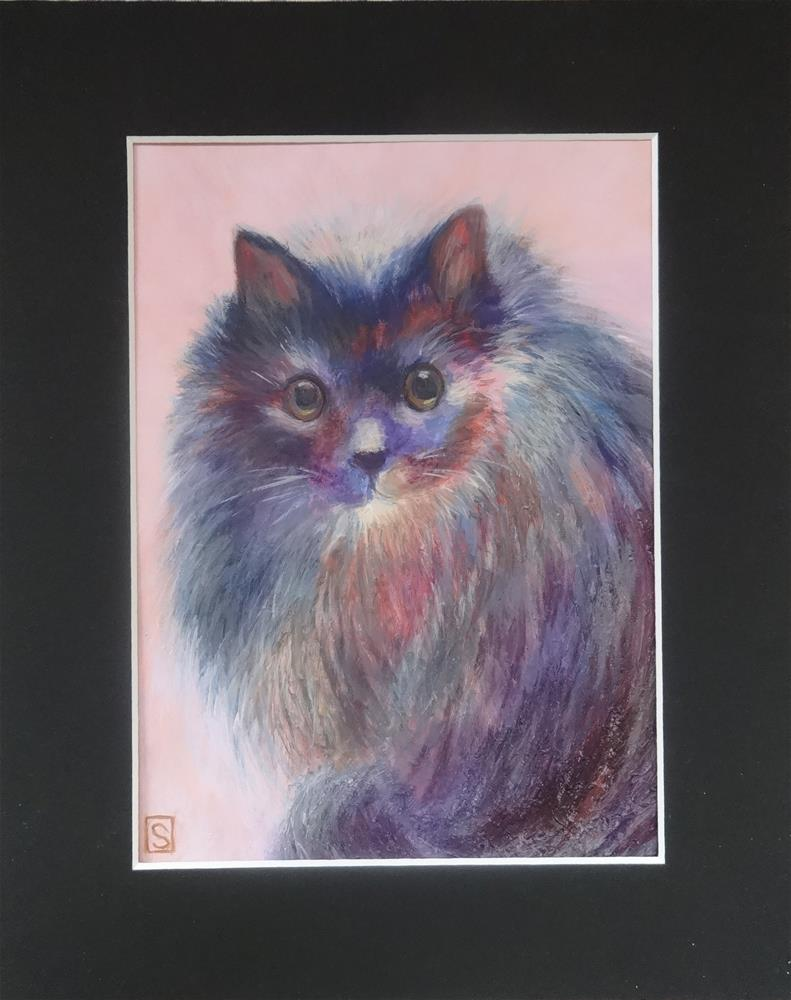 """5110 - Matted - Sesha - Memorial Pal Portrait"" original fine art by Sea Dean"