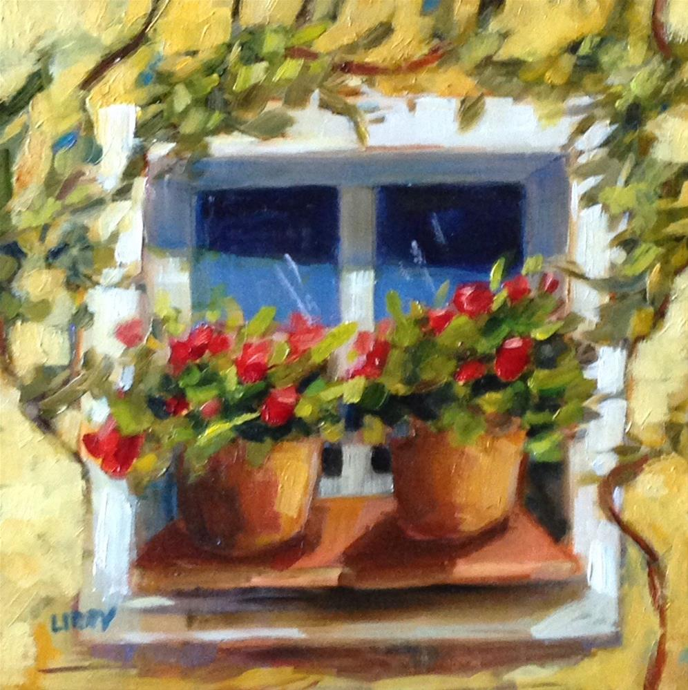 """Window Shade"" original fine art by Libby Anderson"
