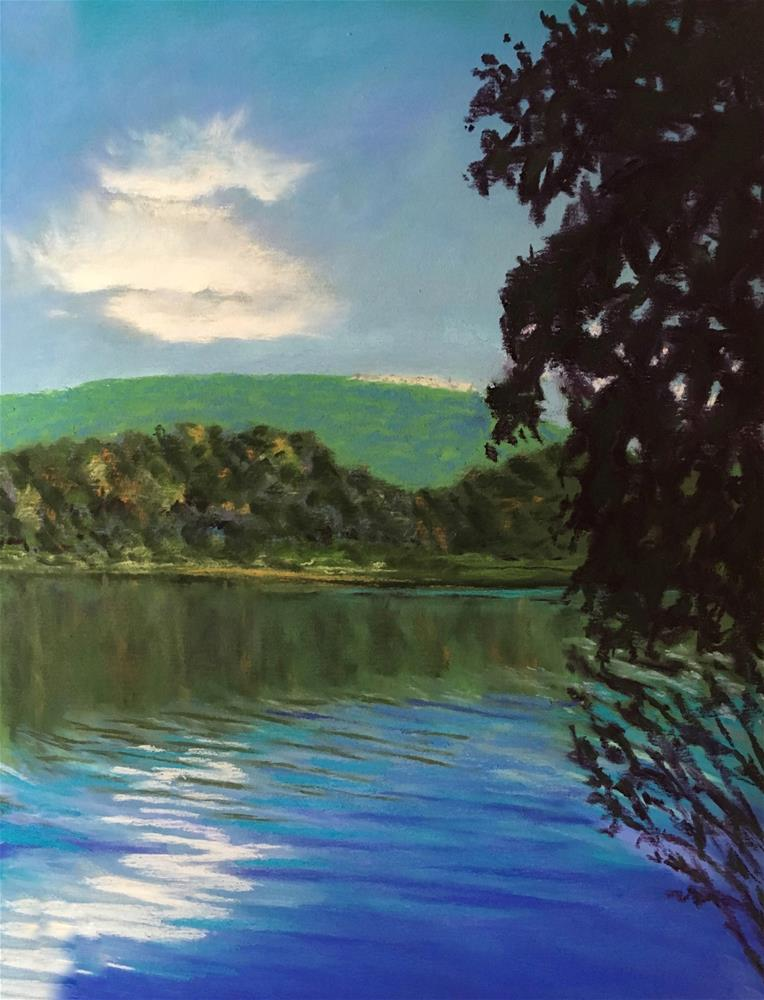 """Tillson Lake"" original fine art by Laurie Sammons"