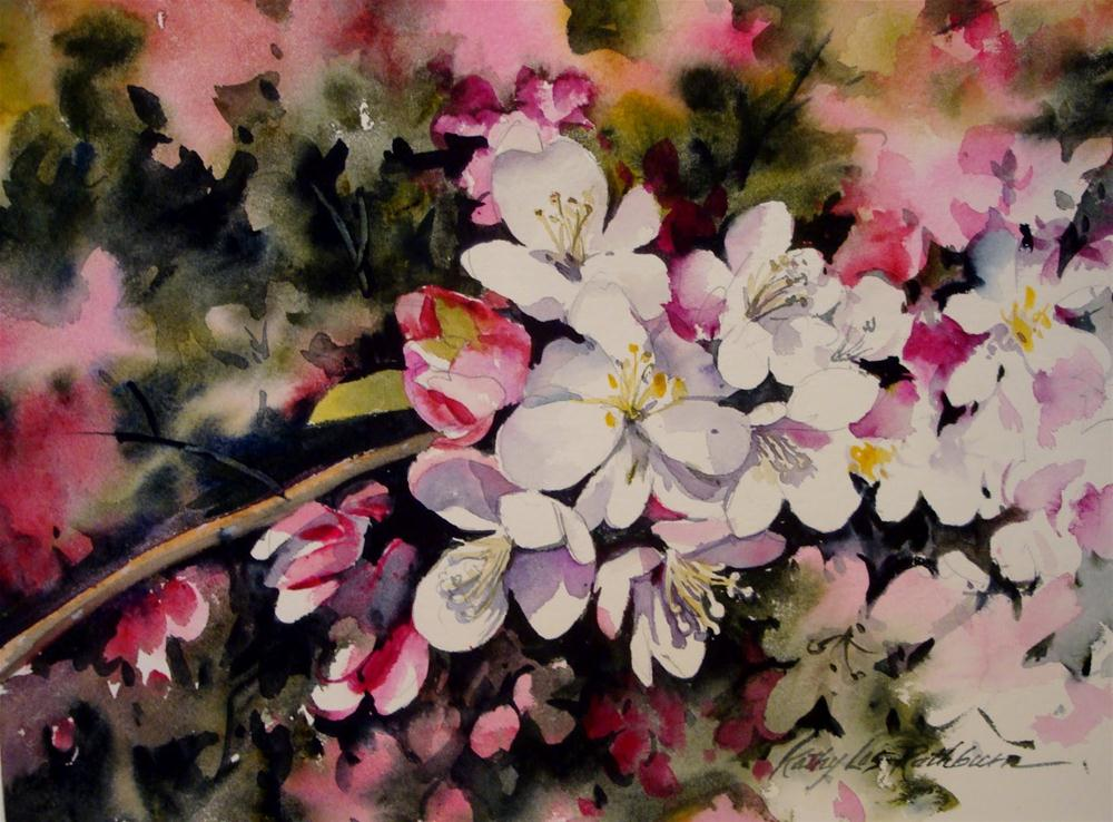 """Spring Blossoms"" original fine art by Kathy Los-Rathburn"