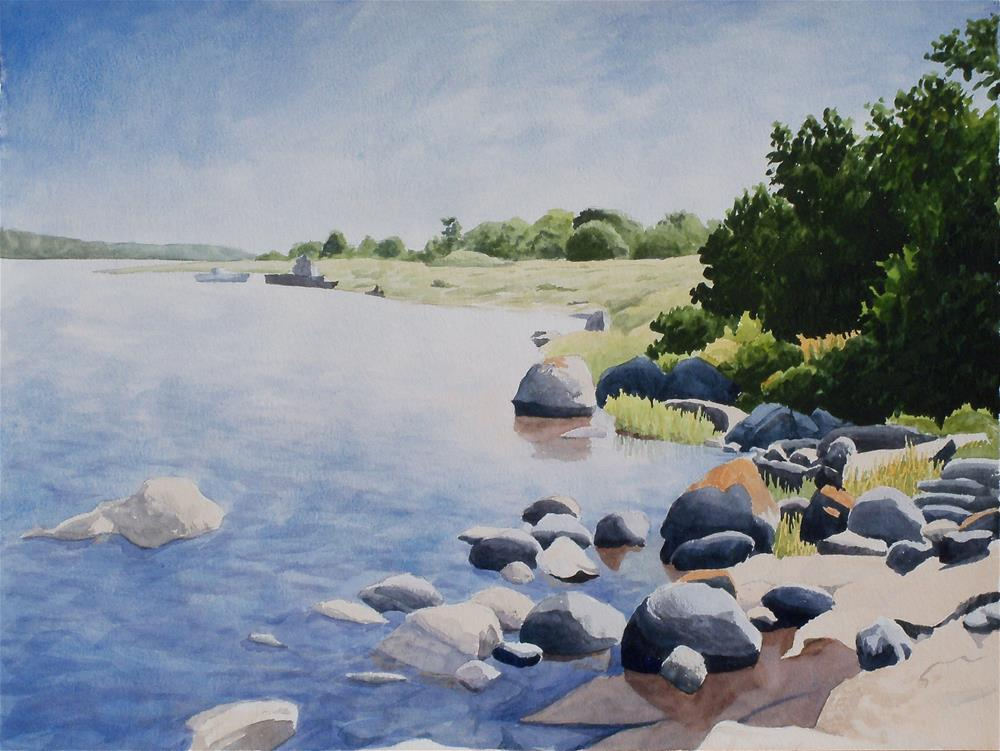 """Swedish Shoreline"" original fine art by Greg Arens"