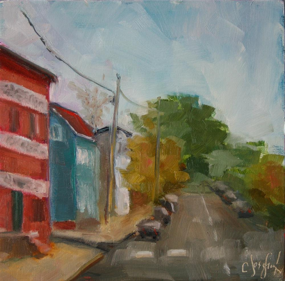 """Princess Anne Street"" original fine art by Carol Josefiak"