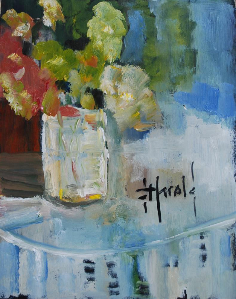 """Flowers in glass"" original fine art by Deborah Harold"