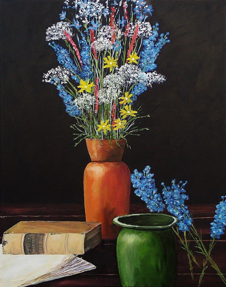 """Table Floral"" original fine art by Mike Caitham"
