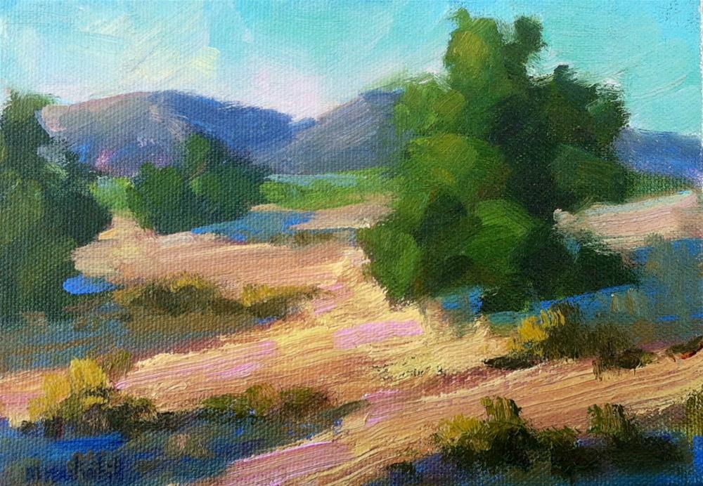 """Chaparral Morning"" original fine art by Mary Mulvihill"