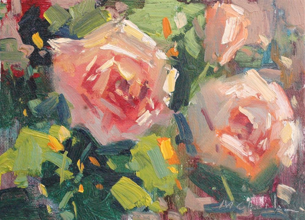 """New Years Rose"" original fine art by Michael Clark"
