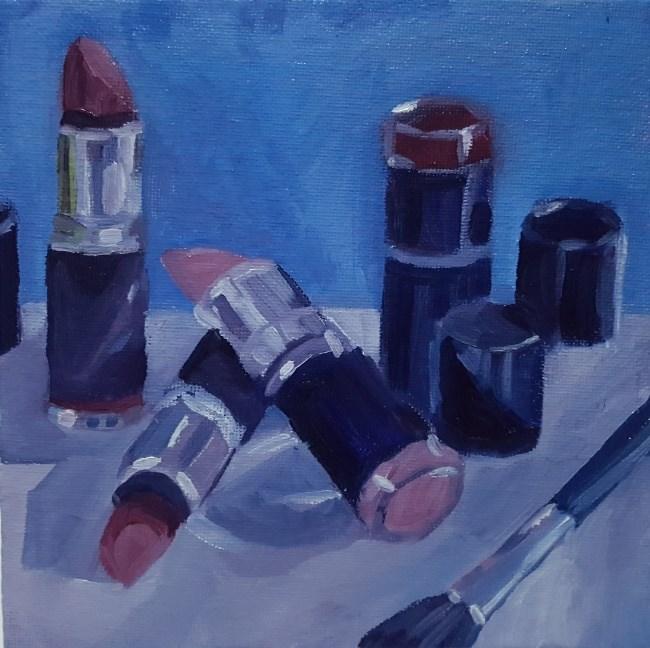 """Beauty Routines"" original fine art by J M Needham"