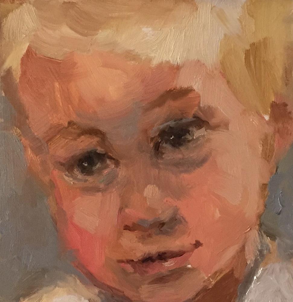 """Chantel Barber Class"" original fine art by Marcia Hodges"
