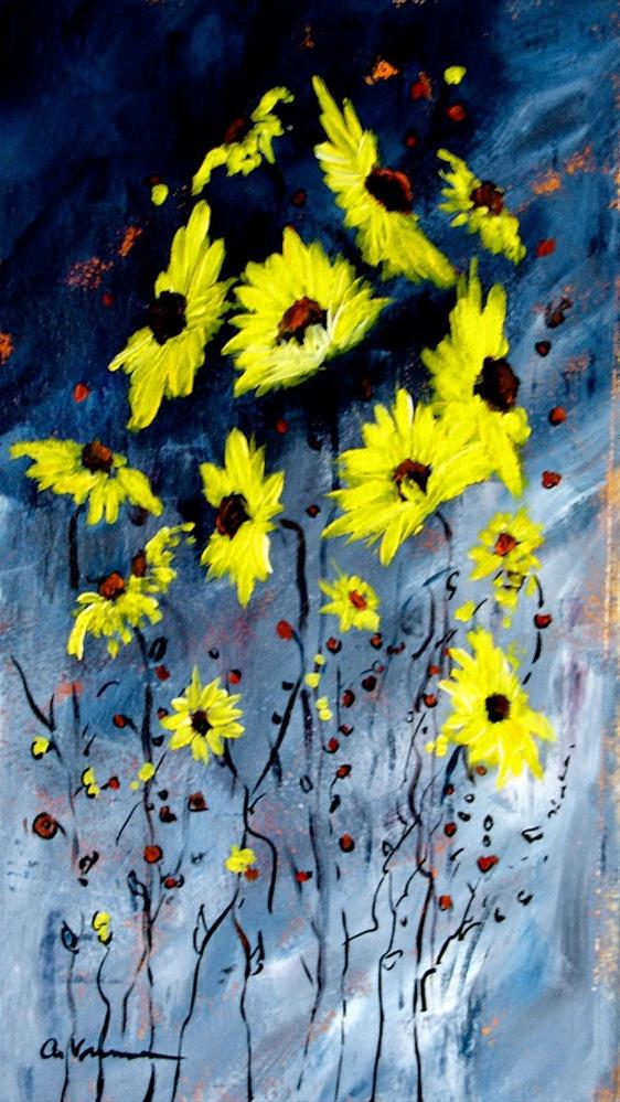 """Sunflower #6"" original fine art by Anna Vreman"