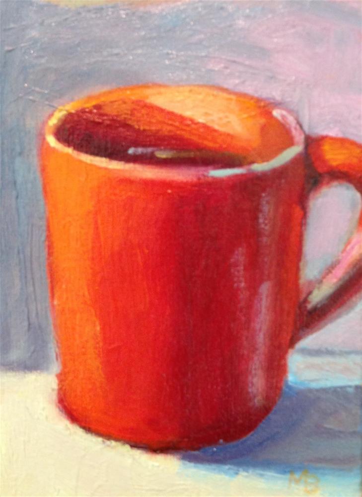 """""""Cup of Joe"""" original fine art by Marcia Bergtholdt"""