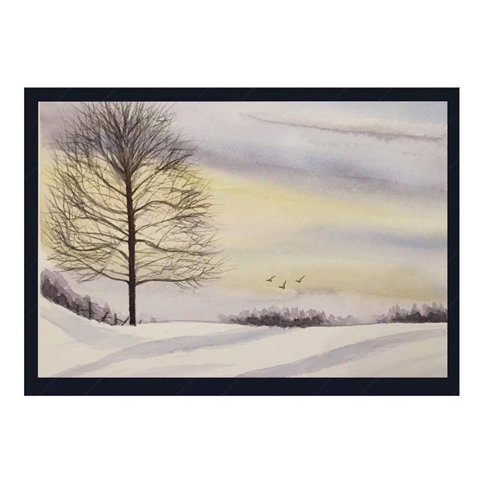 """""""Winter Two"""" original fine art by Melissa Gresham"""